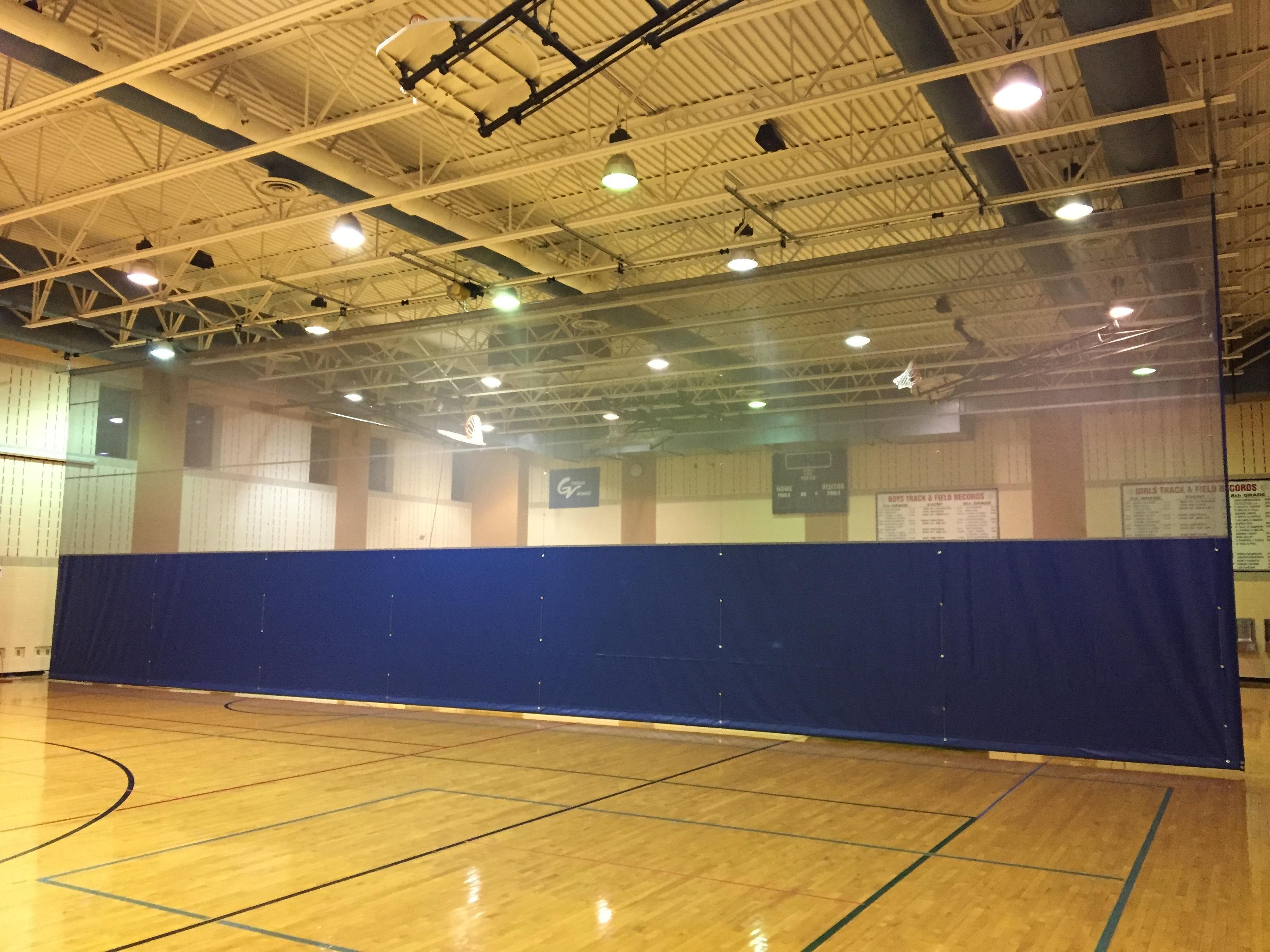 Gymnasium Divider Curtain Installation